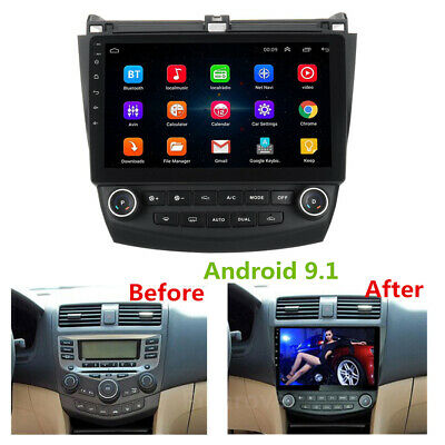 "10.1"" Android 9.1 Radio GPS 2GB+32GB Wifi A/C Dash Panel for Honda Accord 03-07"