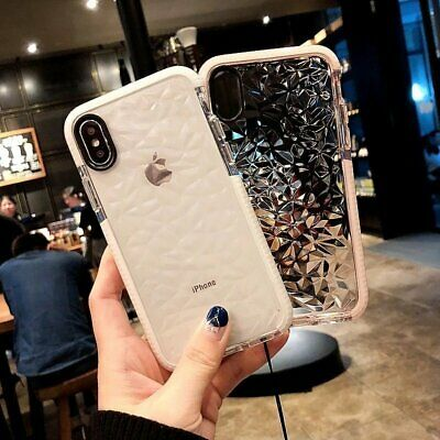For iphone Case 360° Cover Protection Silicone Slim Diamond Gel (6s 7 XR Xs max)