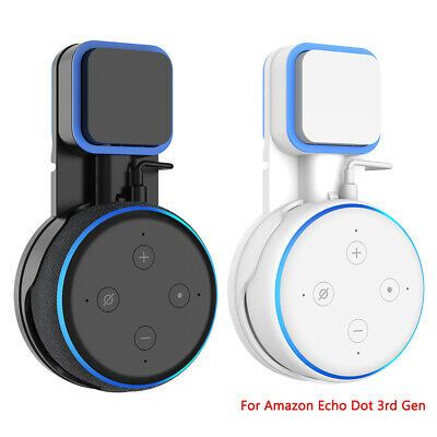 2X Outlet Wall Mount Holder Bracket For Amazon Echo Dot 3rd Generation