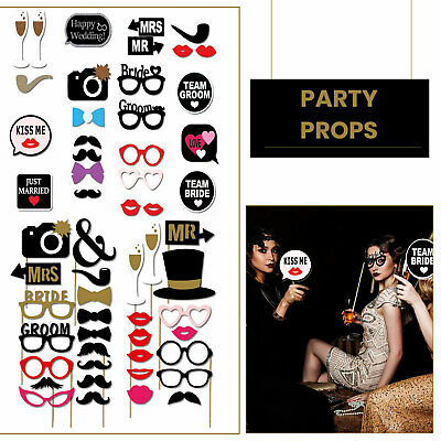 18pcs Baby Shower Fun Photo Booth Props Little Boy New Born Party Accessories
