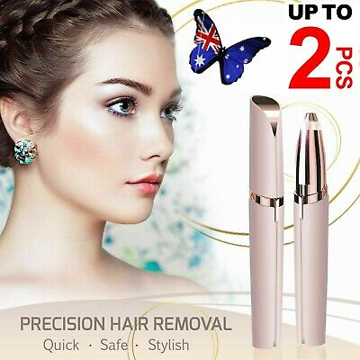 2X Electric Brow Remover Razor Face Eyebrow Trimmer Facial Hair Removal LED AU