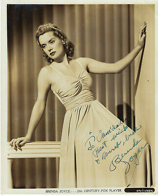 American Film Actress Brenda Joyce , Autographed Vintage Studio Photo
