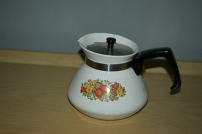 Vintage Corning Ware Stove top Teapot Tea Pot Kettle 6 cup P-104
