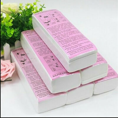 100/500 Wax Strips Paper Excellent Quality Non Woven strips for Body Waxing