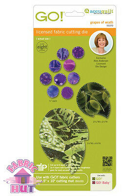 Accuquilt GO! Fabric Cutter Die Grapes of Wrath by Alex Anderson Quilt Sew 55370