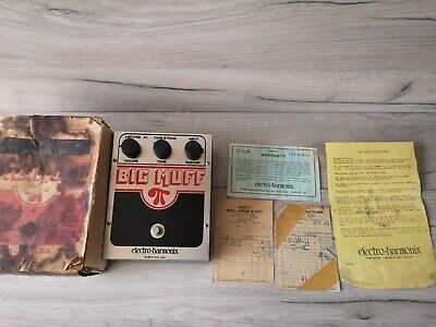 Electro-Harmonix Big Muff Pi V5 (Op Amp Tone Bypass) EH3003 1979 pots, with box