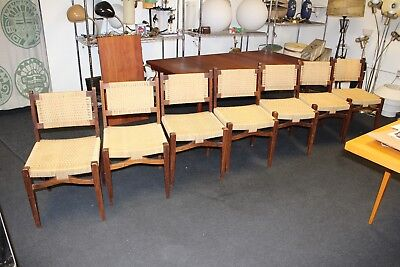 Vintage 1950's Mexican Danish Brazil Mid Century Modern Dining Chairs