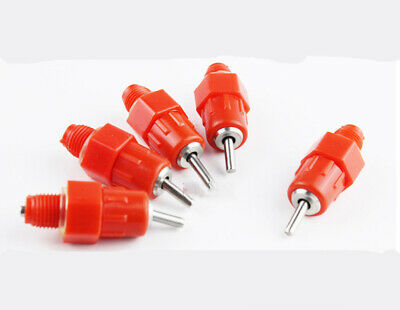 10pcs Poultry Water Automatic Tube Drip Drinkers Valve Nipple Drinker for Birds
