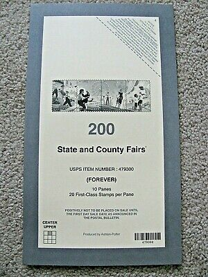 USPS Postal Service STATE & COUNTY FAIRS STAMP PACKING INSERT COVER