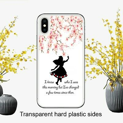 Disney Alice In Wonderland Quote Fan Case Cover for iPhone Samsung Huawei Google