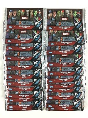 Marvel Misiones Trading Card Game Postal Lote 50 Booster Pack Nuevo (The