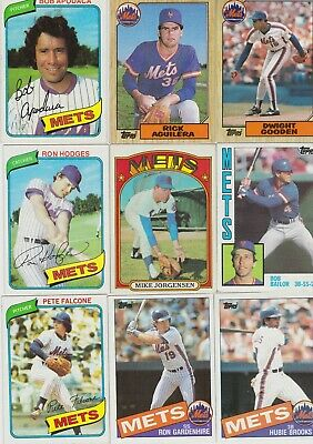 1980's New York Mets 25 Card Lot