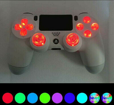 Custom Playstation 4 PS4 V2 LED Light Up Controller 'Original White with LEDs'