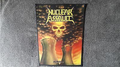 Nuclear Assault,survive,sew On Sublimated Large Back Patch-