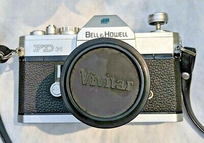 Bell & Howell FD35 Camera w/ Vivitar 28mm Wide Angle; Vivitar Zoom; Upsilon Tele