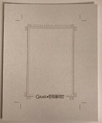 Rittenhouse Game Of Thrones Blank Uncut Sketch Card