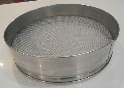 Commercial SIEVE Drum HEAVY DUTY 30cm diameter Stainless Steel Commercial Use