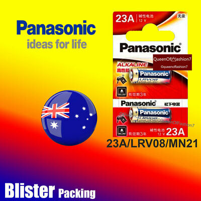 2 x Panasonic 23A/MN21/LRV08 Blister 0% Hg12V Battery Batteries Alarm Remote