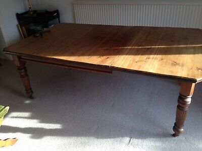 Early Victorian Pine Crank Handle (Extendable Leaf) Table