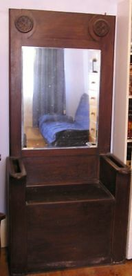 Antique Hall Stand/Seat with Mirror