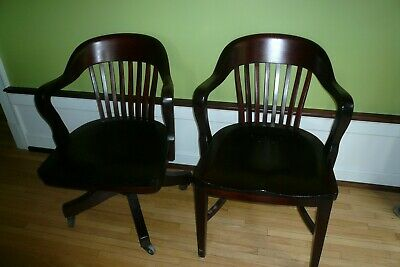 Antique mahogany office chairs