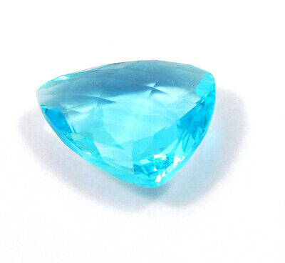 47 Cts. Natural Faceted Trillion Sky Blue Hydro Cut Gemstone AAK176