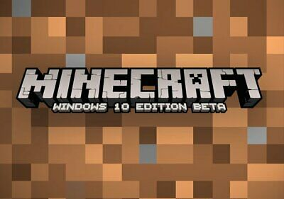 Minecraft -Windows- 10 Edition,,-- CD,-- KEY,-- Only,  Activation Key Only.