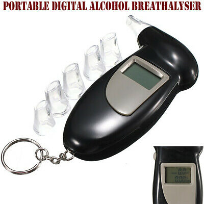 Portable Digital LCD Alcohol Tester Breathalyser Analyser Breath Test Detector