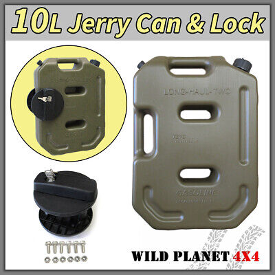10L Jerry Can Fuel Container With Holder Army Green Spare Petrol Container Heavy