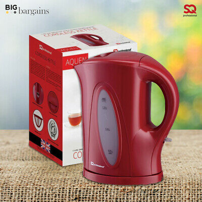 2200W 1.7 Litre Electric Cordless Kitchen Jug Kettle Filter Fast Boil Red