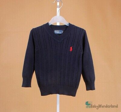 Children Boys Toddlers Grey Navy Cardigan Cotton Jumper Sweater Size 1-7Years