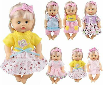 Pack of 6 Fit 12 Inch Alive Baby Doll Gown Dress Clothes Fashionista Outfits