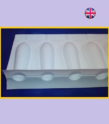 48 x 2ml Empty Suppository Mold Shell Home Made Suppositories Disposable Moulds.