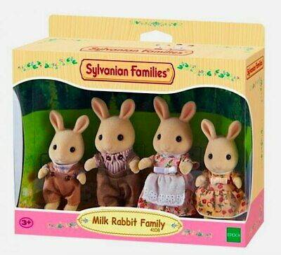 NEW Sylvanian Families Milk Rabbit Family from Purple Turtle Toys