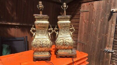 Real Antique Brass Side Lamps