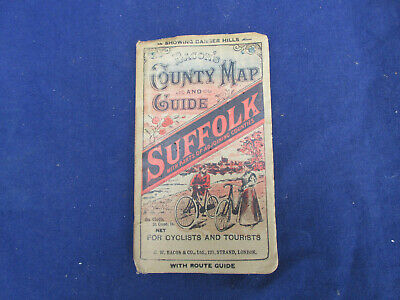 vINTAGE BACONS COUNTY MAP AND GUIDE SUFFOLK