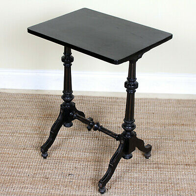 Antique Ebonised Side Table 19th Century Console Lamp Table Victorian