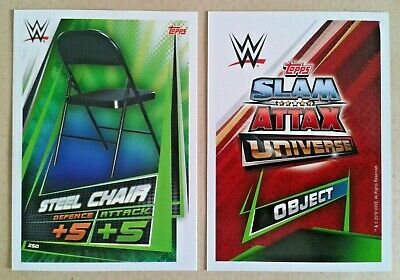 Wwe Slam Attax Universe 2019 Objects Cards # 250-253 - Add To Basket
