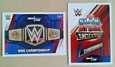 Wwe Slam Attax Universe 2019 Championships Cards # 233-249 - Add To Basket