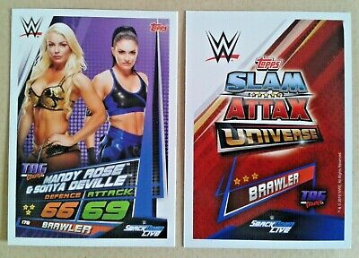Wwe Slam Attax Universe 2019 Tag Teams Cards # 161-180 - Add To Basket