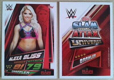 Wwe Slam Attax Universe 2019 Raw Cards # 1-58 - Add To Basket