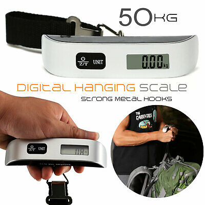 110lb 50kg Portable Travel LCD Digital Hanging Luggage Scale Electronic Weight