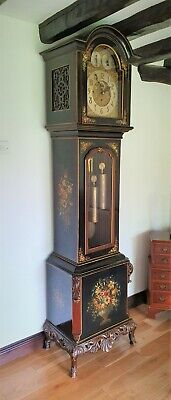 A Magnificent Triple Weight Nine Tube Musical Longcase by Winterhalder Germany
