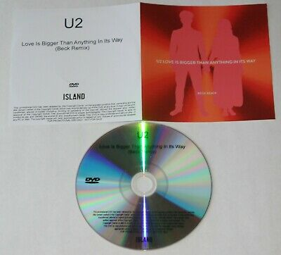 U2 - Love Is Bigger Than Anything In Its Way  - U.k. 1-Track  Promo Dvd