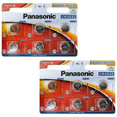 Panasonic - Piles Bouton Lithium CR-2032 - Pack de 12