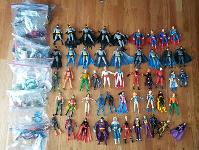 HUGE DC Direct Over 50 Figures Lot!! Batman Superman Wonder Woman Stands Parts