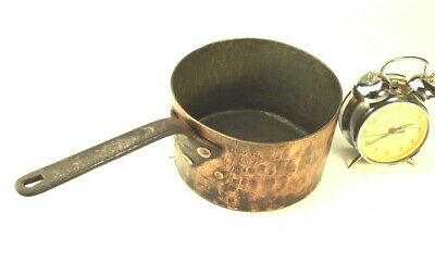 Vintage Copper Saucepan with Brass Handle - FREE Shipping [5441]
