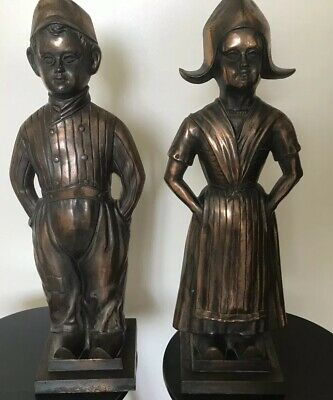 DUTCH BOY And GIRL FIRESIDE COMPANION VINTAGE FIREPLACE Accessory, 51cm Tall