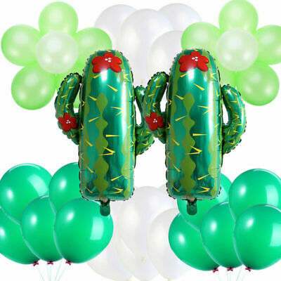 62 Pcs Hawaii Party Balloons Cactus Party Supplies Latex Balloons Decoration