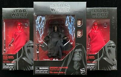 Star Wars Fan Club Exclusive Lot Black Series EMPEROR PALPATINE with Throne Set